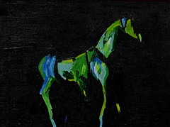 Electric Horse - The Painting (BKHagar *Kim*) Tags: blue horse black green art electric painting artwork paint acrylic background impressionist dardk bkhagar
