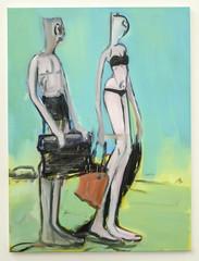 Couple turquoise (CORMA) Tags: brussels art europe belgique bruxelles exhibition exposition artcontemporain 2016 alainschas tourtaxis