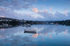 At Peace (brwestfc) Tags: cloud house reflection water glass river still cornwall peace estuary