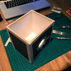 Diffuser box 2 (Mr Atrocity) Tags: camera england blackandwhite london monochrome make darkroom project diy unitedkingdom budget large chemistry printing gb intrepid 4x5 format enlarger cheap ghetto diffuser 5x4