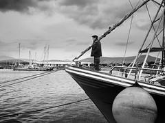 Dingle Fisherman (Flapweb) Tags: ireland mono harbor boat sony dingle a6000 sonyilce6000