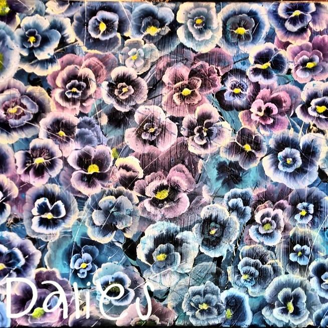 Stiefmütterchen (Beate Dalies) Tags: Pink Flower Art Nature Garden Painting  Artist Kunst Blumen