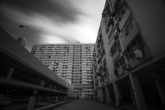Housing ([~Bryan~]) Tags: city bw hongkong housing density urbanlandscape publichousing ndfilter cloudmovement urbandensity choihung daytimelongexposure publicestate choihungestate bryanleung
