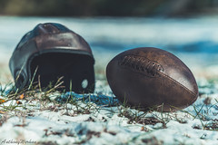 Old School Football (werhun.tv) Tags: winter snow leather vintage football backyard play snowy nfl oldschool pigskin oldschoolfootball anthonywerhun
