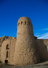 old citadel tower, Ardakan County, Aqda, Iran (Eric Lafforgue) Tags: city travel building brick tower heritage vertical wall architecture outdoors town persian ancient ruins asia day iran citadel islam traditional bricks persia nobody architectural historic adobe historical daytime iranian orient fortification fortress islamic rampart fortified    iro  colourpicture  aqda irandsc08328 gazestan ardakancounty