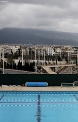 (A.Atena) Tags: city blue winter sky cold 2004 buildings nikon europe december athens swimmingpool greece swimmer olympic nikkor50mmf18 olympicpark 2015 nikond5000