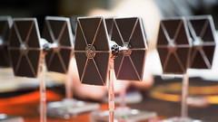 328/365: TIE Fighters (haslo) Tags: macro miniatures starwars bokeh space small tie cctv tiny xwing boardgames creamy tiefighter