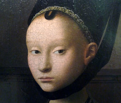 Petrus Christus, Portrait of a Young Woman (detail), c. 1470
