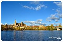 Preciosa vista de Salamanca y su Rio Tormes