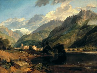 ' Bonneville, Savoy, with Mont Blanc' by JMW Turner (1775-1851)