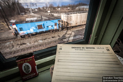 Conrail in Marion, Ohio (Brandon Townley) Tags: railroad ohio trains marion caboose erie csx conrail interlockingtower actower