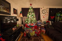 Christmas Tree (Jemlnlx) Tags: christmas family house tree home canon eos living is holidays mark room iii l 5d usm trim decorate ef f4 1635mm
