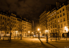 The Place To Be (Morgane Klber) Tags: street city longexposure paris france color night clouds lights cityscape lightstream