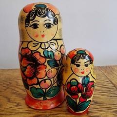 Op-shop find. Russian nesting dolls. #thriftfinds #russiannestingdolls (Heart felt) Tags: russiannestingdolls thriftfinds uploaded:by=flickstagram instagram:photo=10649125897213380921642322975