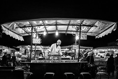 Chez Mustapha. (enzo marcantonio) Tags: africa street leica city travel people blackandwhite bw food night work square outside holidays place outdoor streetphotography eat enzo marocco marrakech souk streetphoto q streetfood summilux ethnicity jamaaelfna marcantonio leicaq enzomarcantonio