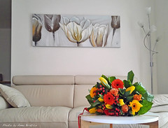 Colors of ... (anbri22) Tags: birthday flowers home 22 tulips present feeling anbri huaweihonor6