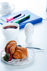 breakfast  croissant  and notebook   on a white table (lyule4ik) Tags: morning light food blur hot cup coffee shop breakfast pen work vintage painting notebook table lunch restaurant glasses milk cafe healthy italian warm glow break phone flavor notes fuzzy drink sweet chocolate beverage cream fresh retro delicious mocha foam steamed cocoa latte caffeine cappuccino attention liquid tone whipped filtered stimulating