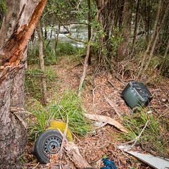 tragedy of the commons (Daniel_Patman) Tags: nationalpark garbage rubbish tasmania yuck westaway tyennariver