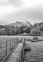 A Dull Day (Michelle O'Connell Photography) Tags: winter blackandwhite scotland jetty lochlomond inveruglas michelleoconnellphotography