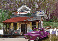 Mikes bait and grill  DSC_0083-2 (crimsontideguy) Tags: art ford dogs graphicart photoshop vintage nikon forrest florida digitalart textures swamps layers stores bays realism concepts bayous vintagetrucks