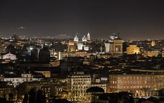 Roma aeterna (www.giorgiopuddu.com) Tags: travel light panorama rome roma night landscape nikon romano explore luci paesaggi notte luce gianicolo romani nikonflickraward d3100