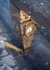 Municipal Buildings Reflection (.annajane) Tags: road street reflection clock water liverpool puddle reflected gutter merseyside dalestreet municipalbuildings