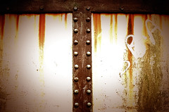 "Rivet Rivet ! (CJS*64 ""Man with a camera"") Tags: bridge brown colour metal manchester nikon rust raw steel retro dslr rivet nikkorlens swinton 35mmlens d7000 nikond7000 35mm18lens moorsideroad craigsunter cjs64"
