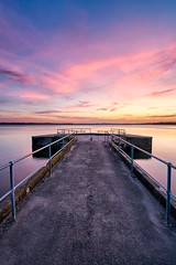 Wangi Sunset (Trevor Tutt) Tags: sunset sky sun water clouds newcastle pier jetty lakemacquarie wangiwangi trevortutt