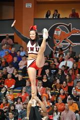 GARNER WEBB CHEERLEADERS (SneakinDeacon) Tags: cheerleaders tournament campbell camels bulldogs bigsouth garnerwebb gorearena