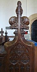 [39235] Silk Willoughby : Bench Ends (Budby) Tags: church woodwork lincolnshire pews silkwilloughby