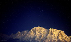 Neve e stelle (Clamos) Tags: winter light snow mountains night montagne stars neve inverno notte luce stelle