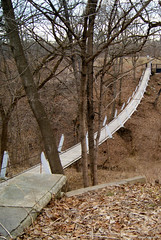 Ravine Crossing (ljsmith_1975) Tags: bridge iowa suspensionbridge loversleap columbusjuction