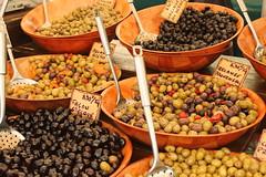 Market day - olives (Freyja H.) Tags: food france market olive olives provence friday matur marketday marketstall edibles provencal lambesc markaur