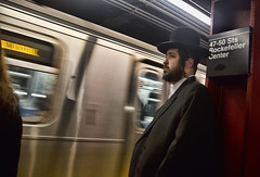 Chasid 2 (deepchi1) Tags: street city nyc newyorkcity people urban usa newyork hat subway streetlife manhatten streetpeople chasid hasidim peyos