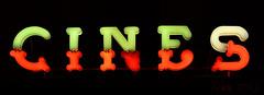 Cines ((C)JJMB) Tags: cine colores carteles naranja mlaga letras cines nen palabra