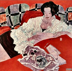 By Hu Mingzhe, 2000 (mike catalonian) Tags: portrait female painting 2000 2000s threequarterslength humigzhe