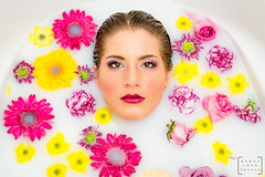 Milky water with flowers #2 (gab.imre) Tags: flower color water girl milk glamour bath young milky hungarian