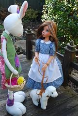 7. A Whimsical Easter Story (Little little mouse) Tags: bjd dollfie easterbunny tansy homemadedress kayewiggs tanlaryssa steifflindalamb