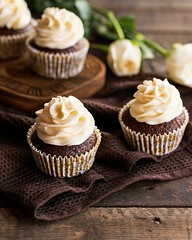 Can't ignore the classics! Chocolate cupcake with cream cheese frosting. #choppingboardstudio #yahoofood #onthetable #morninglikethese