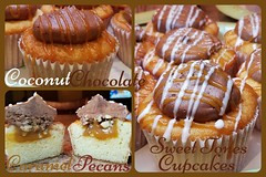 Coconut-Chocolate-Caramel-Pecan Cupcakes-Sweettonescupcakes (Sweet Tones Cupcakes) Tags: coconut chocolate caramel stc drizzle chocolatesauce pecans caramelsauce gourmetcupcakes sweettonescupcakes sweettonescc coconutchocolatecaramelpecancupcakes