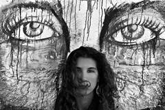 DSC_8362 (Stefanos Antoniadis) Tags: she woman muro portugal girl beauty look fashion wall graffiti donna model eyes europa europe lisboa lisbon curvy lei occhi sguardo ricci sight murales bellezza ragazza lisbona portogallo almada nereid murale modella riccia fascino nereide curvyhair