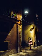Protocol misunderstanding (Sator Arepo) Tags: urban night spain streetlamp olympus catalonia doubt e1 zuiko tarragona tarraco murallas 1454mm
