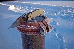 Frosty Spyderco Para2 (NVenot) Tags: winter snow cold ice frost knife knives everydaycarry spyderco paramilitary2