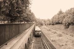 Once upon a time - Germany - West Berlin Humboldthain (railasia) Tags: monochrome germany sbahn eighties infra westberlin bvg thirdrail humboldthain routes2 baureihe275 viertelzug