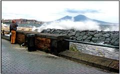 Napoli - Mergellina (gennaromignolo) Tags: italy italia mare campania napoli naples lungomare golfo onde mergellina mareggiata contemplazione mareggiate