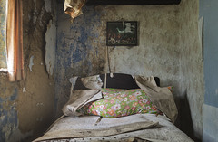Good Morning (ProfShot) Tags: old light shadow urban house building dark painting dead lost living bed bedroom rust sleep decay ceiling haunted forbidden hidden pilow forgotten curtains dust derelict decayed archtecture urbex lightfall