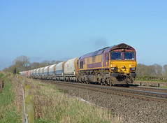 66013 6L75 peak forest to ely potters passing rearsby (I.Wright Photography over 2 million views thanks) Tags: forest peak ely passing potters rearsby 66013 6l75