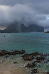 Rain on Lord Howe Island (NettyA) Tags: day2 cloud rain weather rocks australia stormy nsw karst lordhoweisland thelagoon lhi calcarenite mtgower mtlidgbird lordhoweforclimate