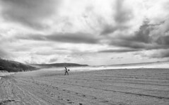 Going home (Anders V) Tags: blackandwhite bw storm beach surfer australia newsouthwales catherinehillbay