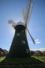 Holgate Windmill, York, Easter 2016 - 7 (nican45) Tags: york sky slr mill windmill canon easter march spring yorkshire roundabout sails sigma wideangle sail dslr 1020mm 1020 northyorkshire holgate fantail 2016 hwps 1020mmf456exdc holgatewindmill eos70d 25march2016 25032016